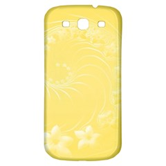 Yellow Abstract Flowers Samsung Galaxy S3 S III Classic Hardshell Back Case