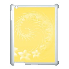 Yellow Abstract Flowers Apple iPad 3/4 Case (White)