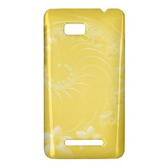 Yellow Abstract Flowers HTC One SU T528W Hardshell Case