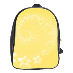 Yellow Abstract Flowers School Bag (XL)
