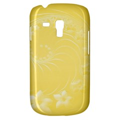 Yellow Abstract Flowers Samsung Galaxy S3 MINI I8190 Hardshell Case