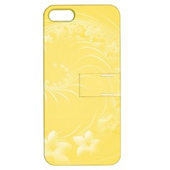 Yellow Abstract Flowers Apple iPhone 5 Hardshell Case with Stand