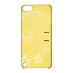 Yellow Abstract Flowers Apple iPod Touch 5 Hardshell Case with Stand