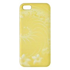 Yellow Abstract Flowers Iphone 5 Premium Hardshell Case