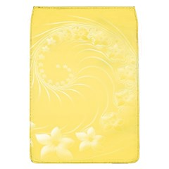 Yellow Abstract Flowers Removable Flap Cover (large)