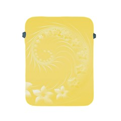 Yellow Abstract Flowers Apple Ipad 2/3/4 Protective Soft Case