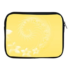 Yellow Abstract Flowers Apple Ipad 2/3/4 Zipper Case