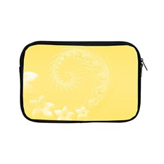 Yellow Abstract Flowers Apple iPad Mini Zipper Case