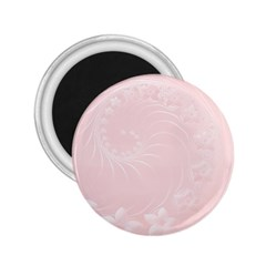 Light Pink Abstract Flowers 2.25  Button Magnet