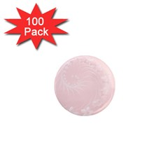 Light Pink Abstract Flowers 1  Mini Button Magnet (100 Pack)
