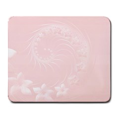 Light Pink Abstract Flowers Large Mouse Pad (rectangle)