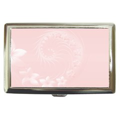 Light Pink Abstract Flowers Cigarette Money Case