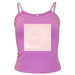 Light Pink Abstract Flowers Spaghetti Top (Colored)