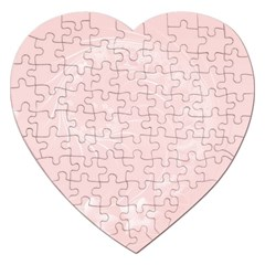 Light Pink Abstract Flowers Jigsaw Puzzle (Heart)
