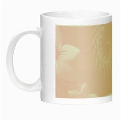 Light Pink Abstract Flowers Glow in the Dark Mug