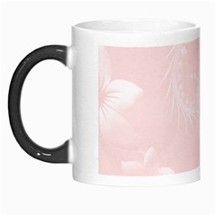 Light Pink Abstract Flowers Morph Mug