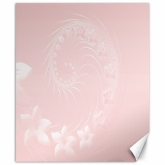 Light Pink Abstract Flowers Canvas 8  x 10  (Unframed)