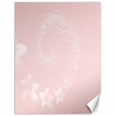 Light Pink Abstract Flowers Canvas 12  x 16  (Unframed)