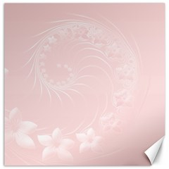 Light Pink Abstract Flowers Canvas 16  X 16  (unframed)