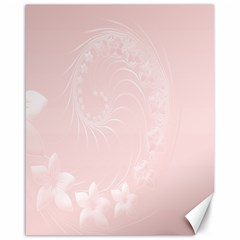 Light Pink Abstract Flowers Canvas 16  x 20  (Unframed)