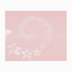 Light Pink Abstract Flowers Glasses Cloth (Small, Two Sided)