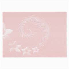 Light Pink Abstract Flowers Glasses Cloth (Large)