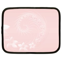 Light Pink Abstract Flowers Netbook Case (Large)