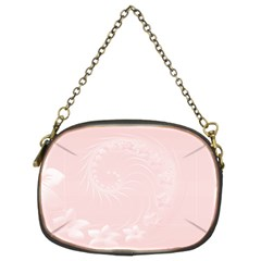 Light Pink Abstract Flowers Chain Purse (Two Side)