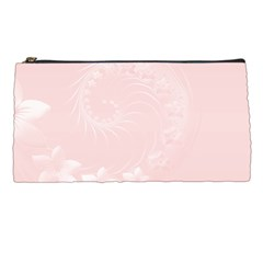 Light Pink Abstract Flowers Pencil Case