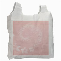 Light Pink Abstract Flowers Recycle Bag (One Side)