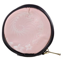 Light Pink Abstract Flowers Mini Makeup Case