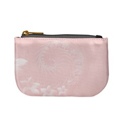 Light Pink Abstract Flowers Coin Change Purse