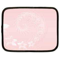 Light Pink Abstract Flowers Netbook Case (XL)
