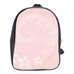 Light Pink Abstract Flowers School Bag (large)