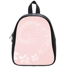 Light Pink Abstract Flowers School Bag (Small)
