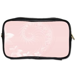 Light Pink Abstract Flowers Travel Toiletry Bag (One Side)