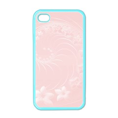 Light Pink Abstract Flowers Apple iPhone 4 Case (Color)