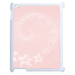 Light Pink Abstract Flowers Apple Ipad 2 Case (white)