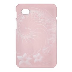 Light Pink Abstract Flowers Samsung Galaxy Tab 7  P1000 Hardshell Case