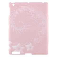 Light Pink Abstract Flowers Apple iPad 3/4 Hardshell Case