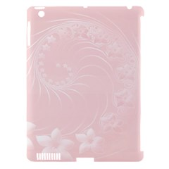 Light Pink Abstract Flowers Apple iPad 3/4 Hardshell Case (Compatible with Smart Cover)