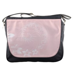 Light Pink Abstract Flowers Messenger Bag