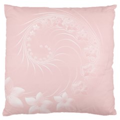 Light Pink Abstract Flowers Large Cushion Case (Two Sides)