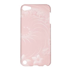 Light Pink Abstract Flowers Apple iPod Touch 5 Hardshell Case