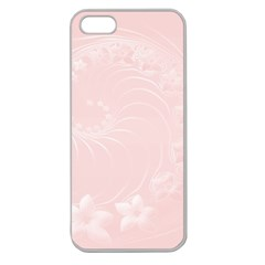 Light Pink Abstract Flowers Apple Seamless iPhone 5 Case (Clear)
