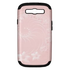 Light Pink Abstract Flowers Samsung Galaxy S Iii Hardshell Case (pc+silicone)