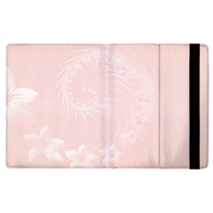 Light Pink Abstract Flowers Apple Ipad 3/4 Flip Case