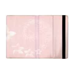 Light Pink Abstract Flowers Apple Ipad Mini Flip Case