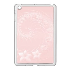 Light Pink Abstract Flowers Apple Ipad Mini Case (white)
