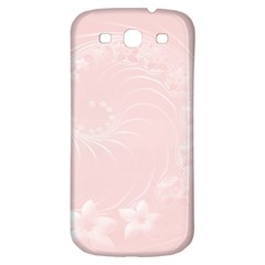 Light Pink Abstract Flowers Samsung Galaxy S3 S III Classic Hardshell Back Case
